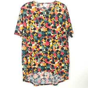 LULAROE Irma Top Tunic Minnie Mouse Short Sleeve